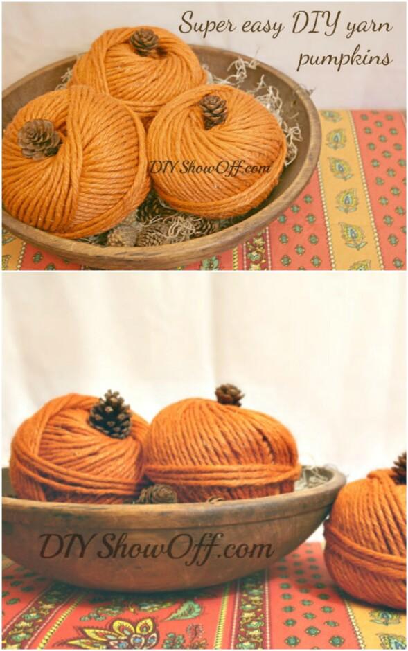 Yarn Pumpkins
