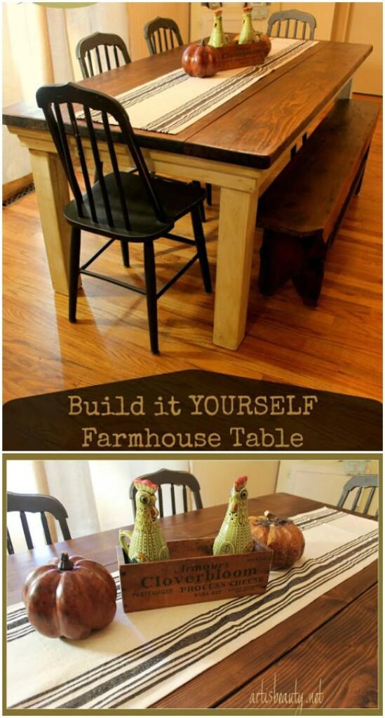 13 farmhouse table diyncraftscom farmhouse furniture collection