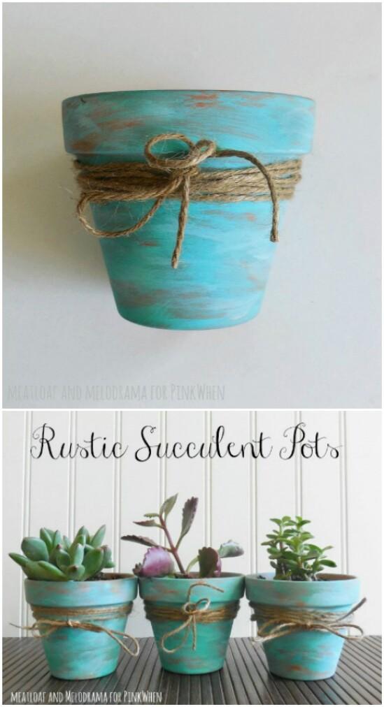 21 succulent pots diyncraftscom farmhouse furniture collection