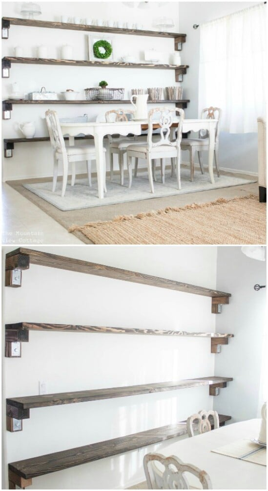 28 wall shelves diyncraftscom farmhouse furniture collection