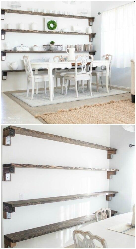 28 wall shelves diyncraftscom farmhouse furniture collection