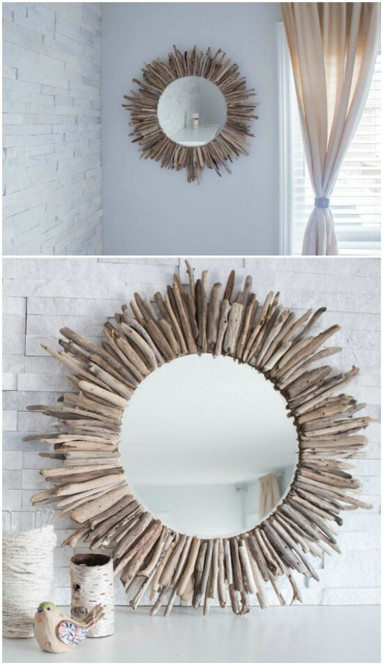 35 wood mirror diyncraftscom farmhouse furniture collection