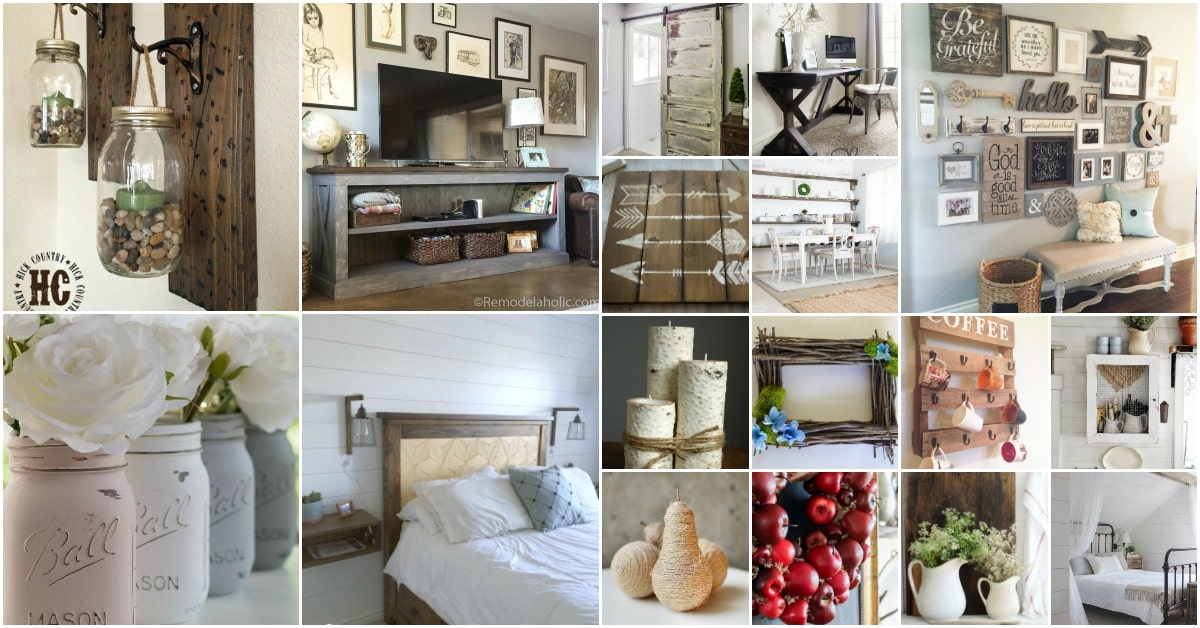 55 Gorgeous DIY Farmhouse Furniture And Decor Ideas For A