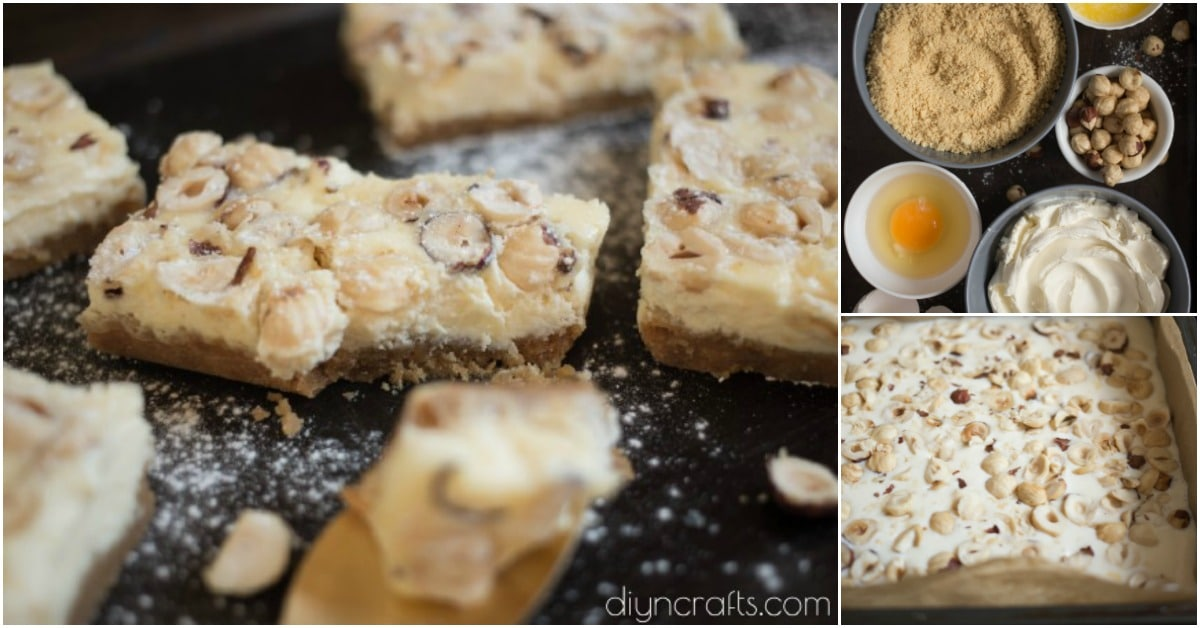 These Hazelnut Cheesecake Bars Are Melt In Your Mouth Delicious - DIY & Crafts