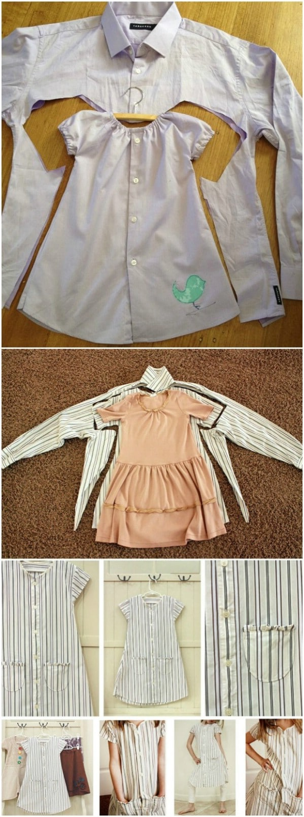 Baby Dress From Upcycled Shirt