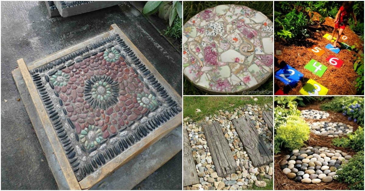 25 Top Garden Stepping Stone Ideas For A Beautiful Walkway