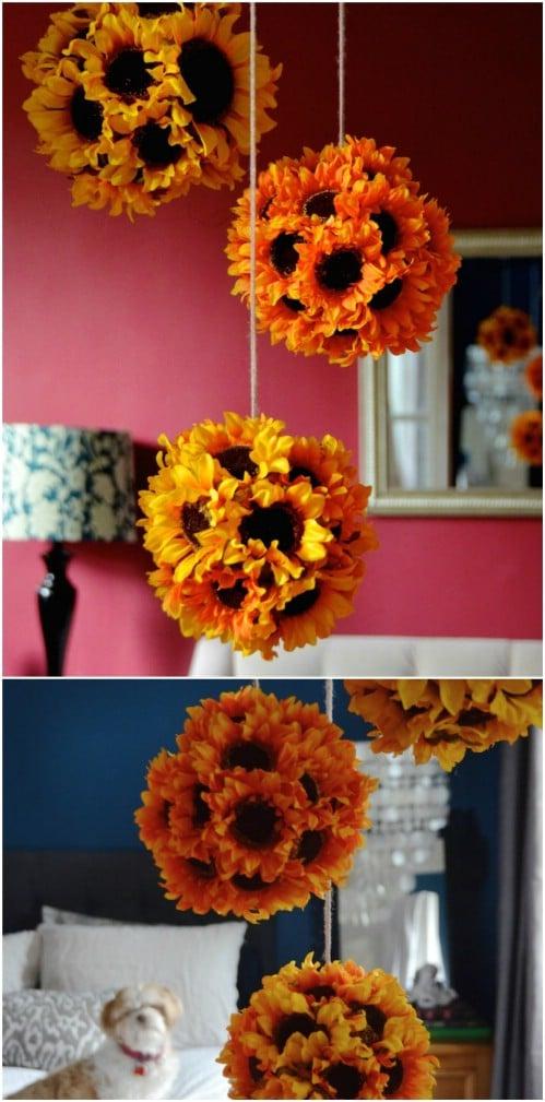 Hanging Sunflower Pendants