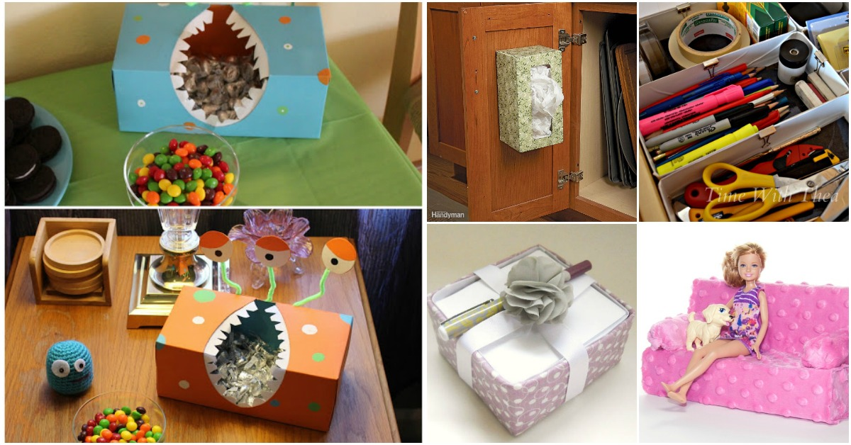 25 Innovative Upcycling Projects That Give New Life To Empty Tissue Boxes Diy Crafts
