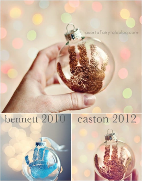 Diy Handprint Christmas Ornaments