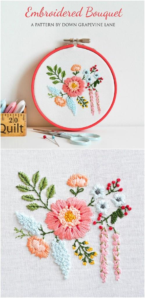 Easy Embroidery : embroidery, Embroidery, Projects, Beginners, Patterns, Crafts