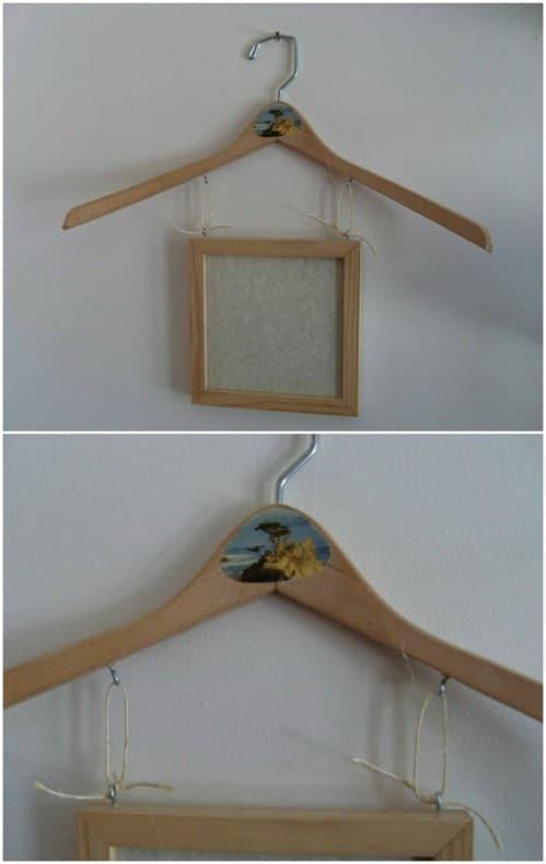 Wooden Hanger Artwork Display