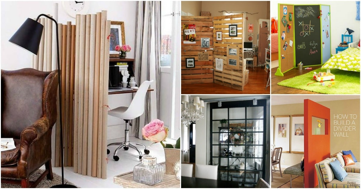 30 Imaginative DIY Room Dividers That Help You Maximize