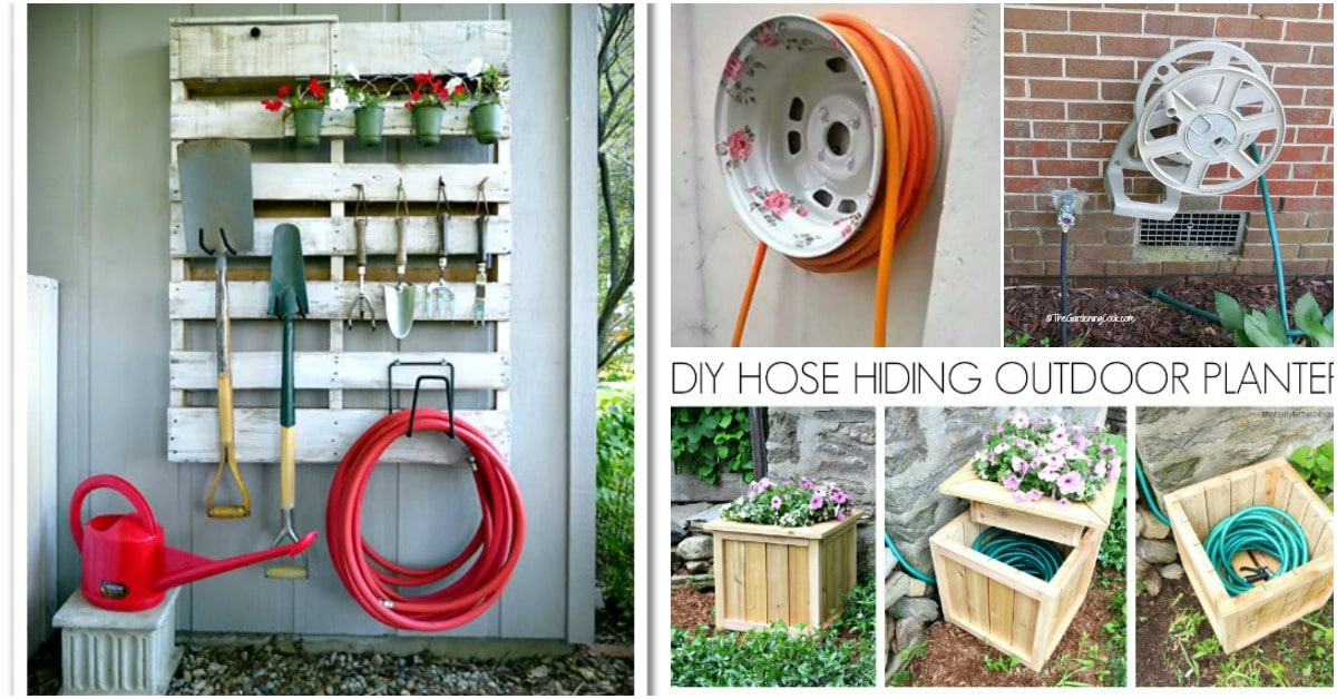 7 Decorative Diy Garden Hose Storage Ideas To Spruce Up Your Outdoors Diy Crafts