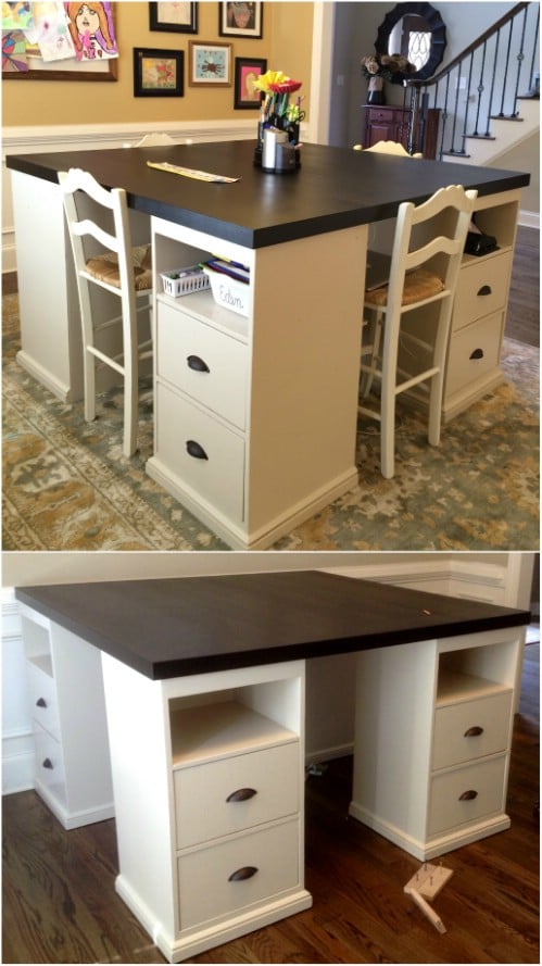 Diy Craft Table Ikea : craft, table, Build, Craft, Desks, Can't, Without, Crafts