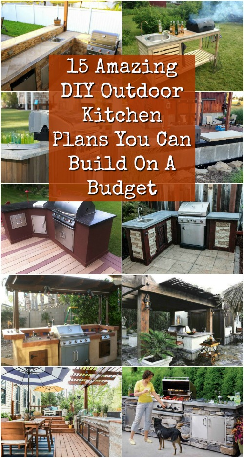 diy outdoor kitchen plans you can build