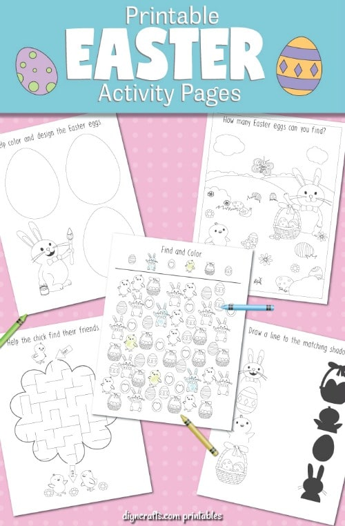 9 Easter Coloring Pages And Activities With Free Printables