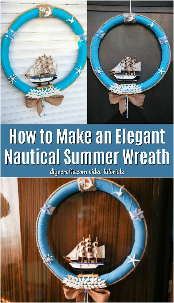 How To Make An Elegant Nautical Summer Wreath Diy Crafts
