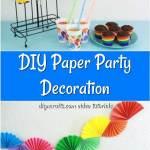 Gorgeous Diy Paper Fan Garland Party Decor Diy Crafts
