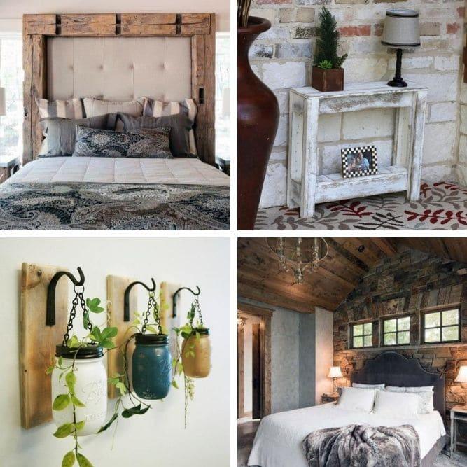cozy rustic decor ideas for a bedroom