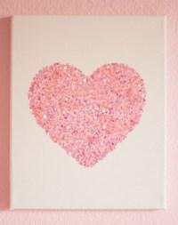10 Easy Glitter Wall Art DIYs