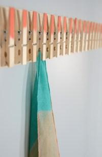 Easy DIY Clothespin Scarf Holder