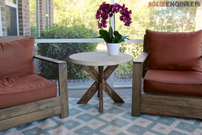 DIY Concrete Side table