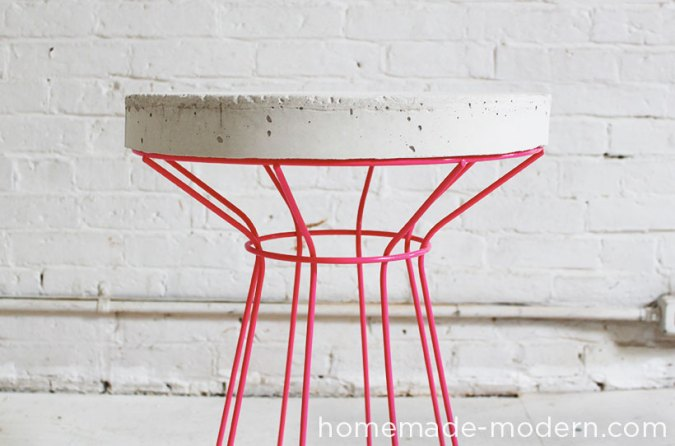 DIY Concrete Side table