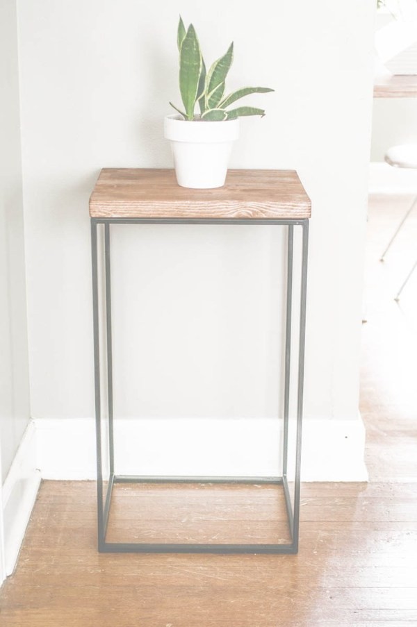 wood side tables living room sets naples fl diy end that look stylish and unique hamper table