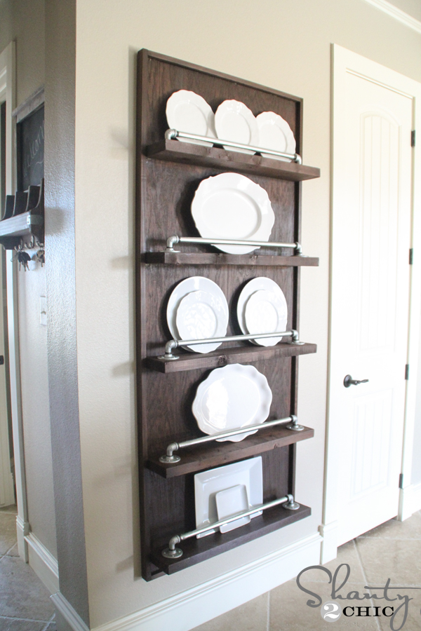 wooden kitchen plate rack cabinet faucet oil rubbed bronze 25 wonderful things you can make with pipe!