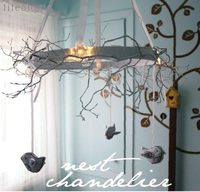 Diy Bird Nest Chandelier