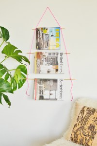 DIY Wall Hanging Magazine Holder