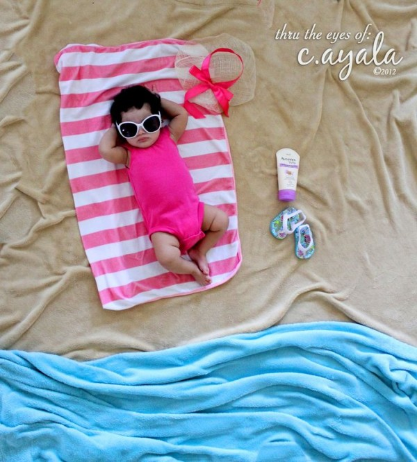 creative baby photo shoot