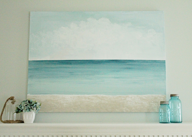 diy canvas art for living room round side table get creative and show your artistic with these 50 elizabeth burns design beach
