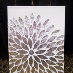 Diy Canvas Art For Living Room Neutral Colors And Dining Get Creative Show Your Artistic Side With These 50 Sc Design Studio Shows Us How To Use Golden Foil Pieces Create A Special The Bedroom Or Even In Foyer