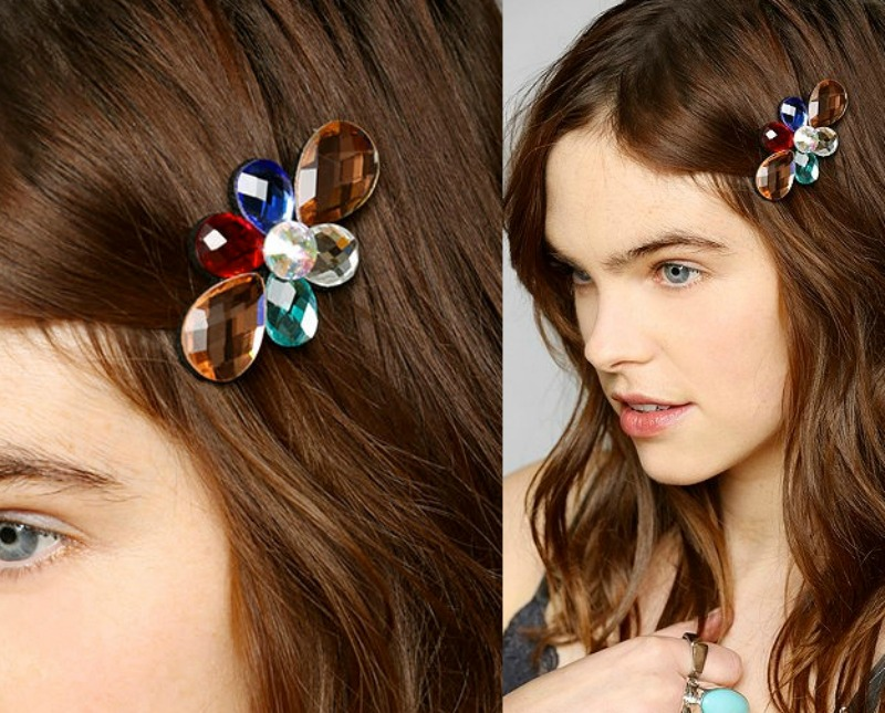 a gemstone barrette unless your hair