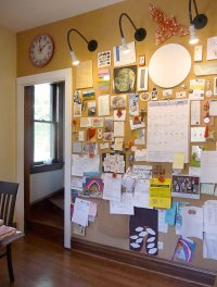 Crafting with cork board