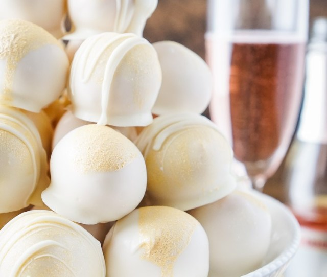 Strawberry Champagne Cake Balls Recipe