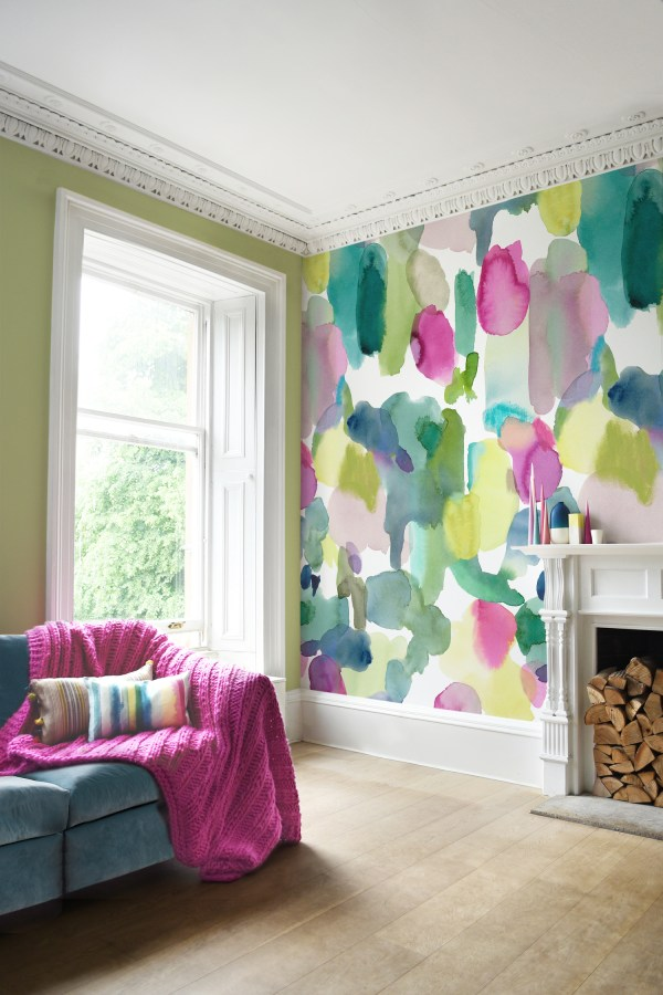 Awesome Rooms With Colorful Wallpaper