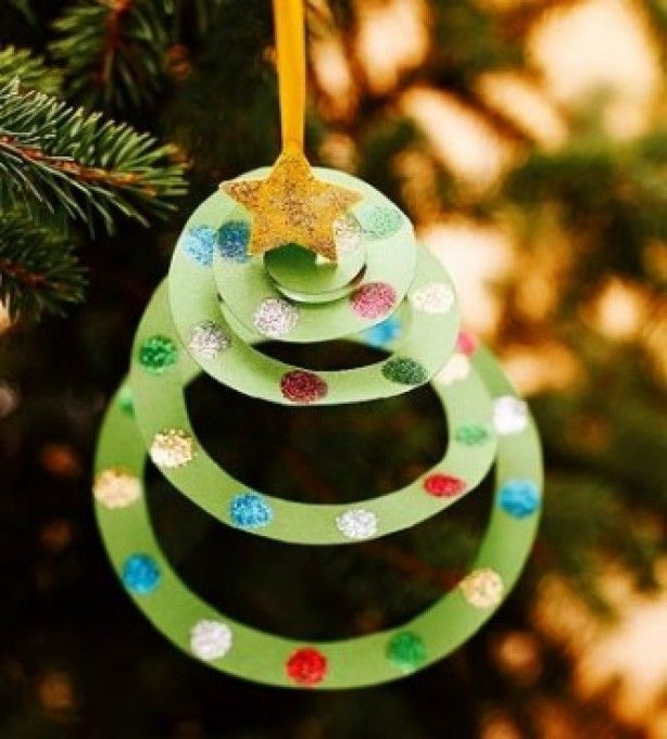 Paper Spiral Trees Diy Tree Ornament