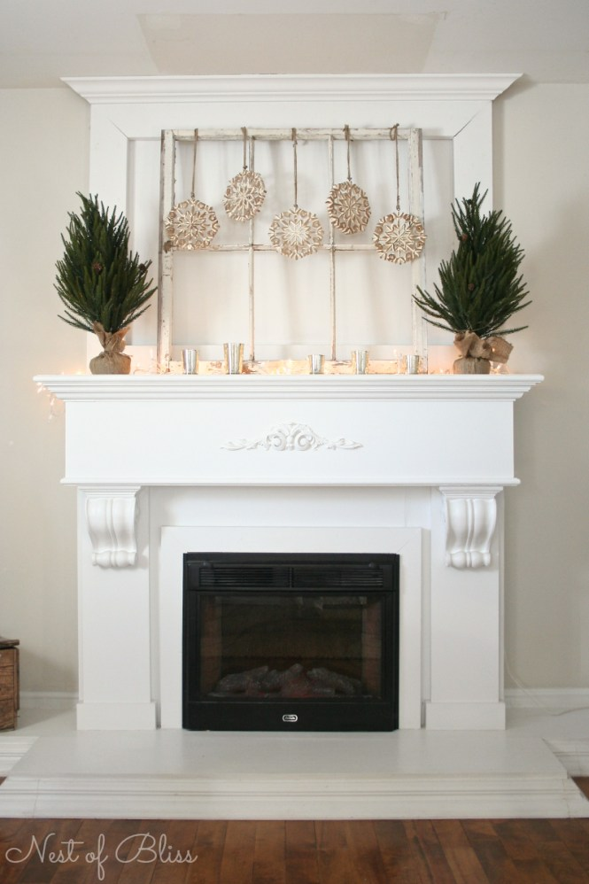 Decorations Pretty Christmas Mantel Decorating Idea With Red Stockings Along Greenery Garland