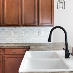 Brick Backsplash In Kitchen Beige Paint Colors For 5 Gorgeous Diy Tutorials Whitewashed From Remodelaholic