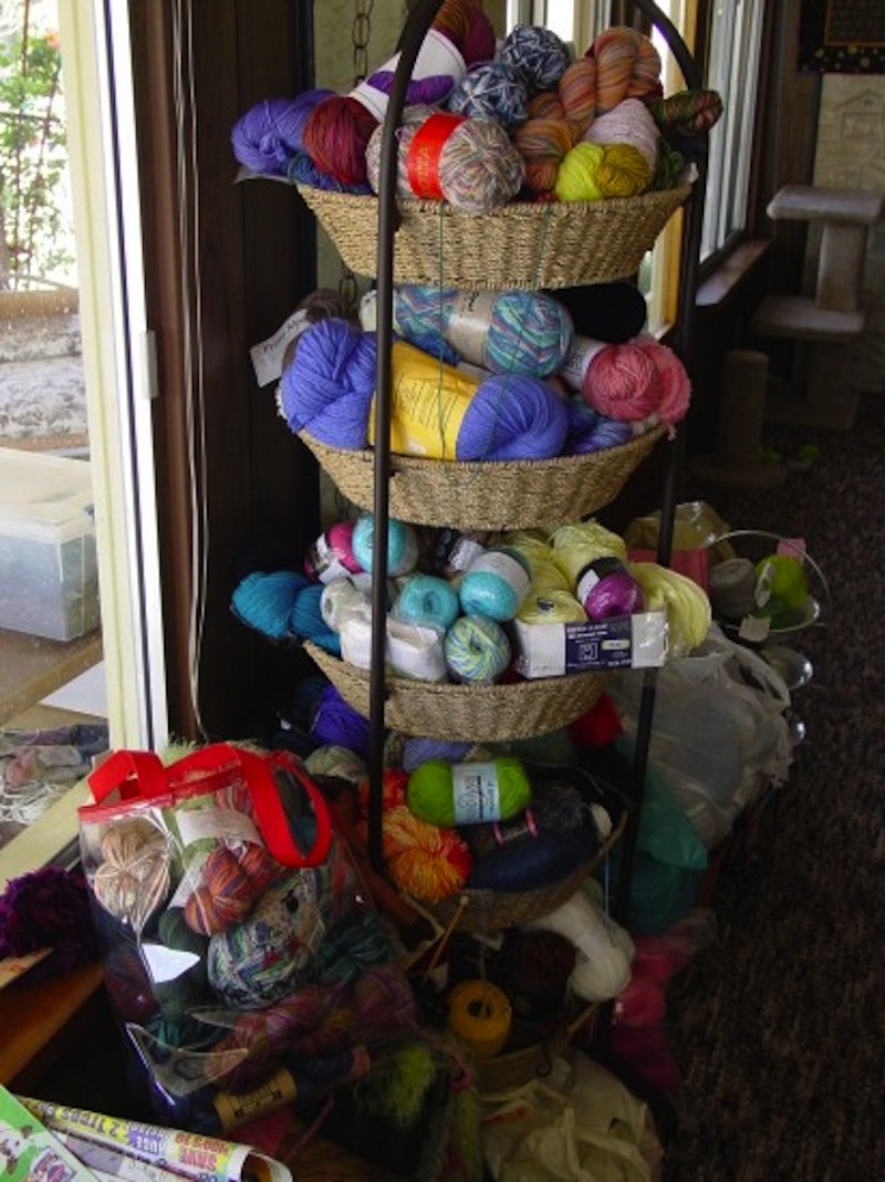 kitchen basket storage granite diy yarn ideas