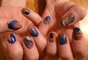 orange manicures bright souls