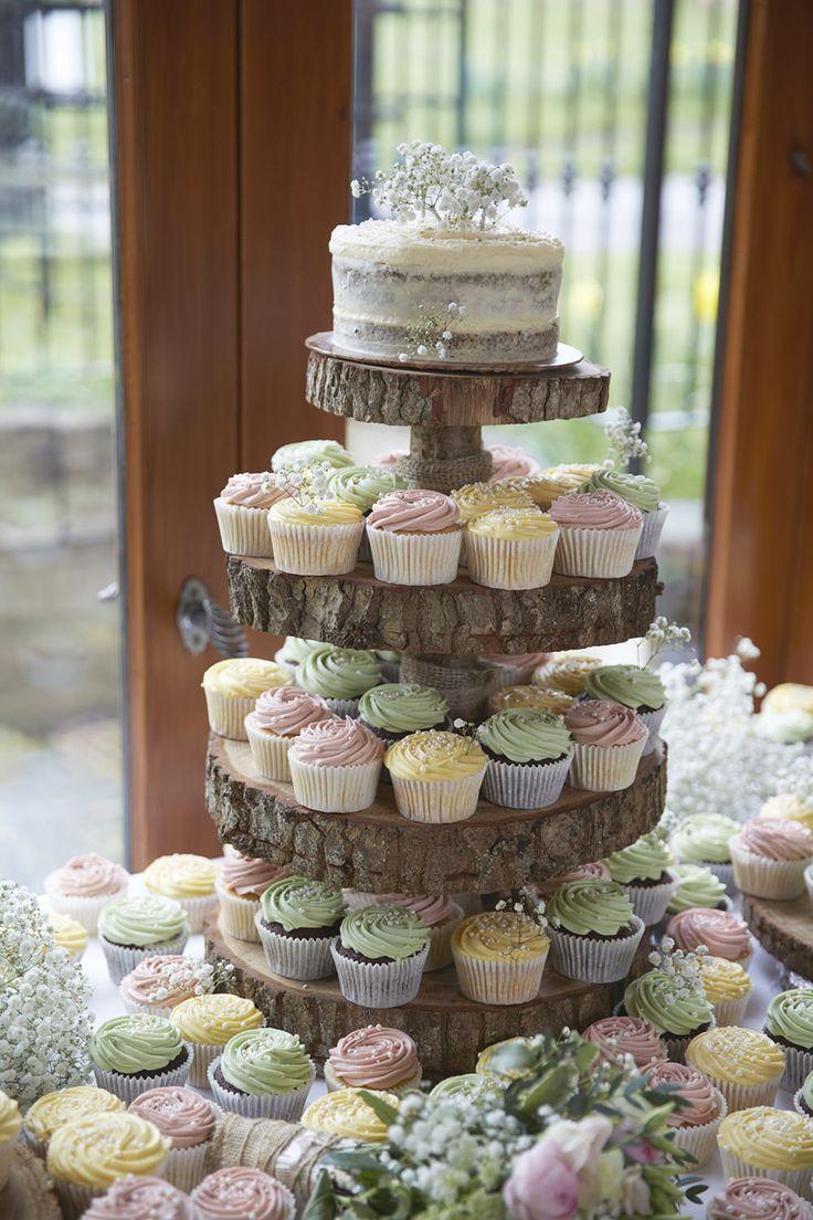 Tiered Stand Cupcake Decorating Wedding