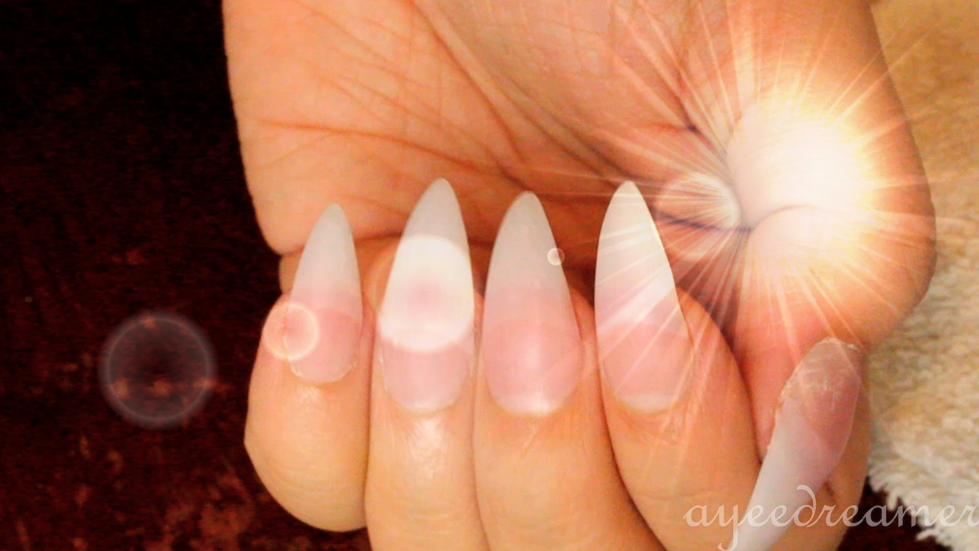 1 Basic Almond Shaped French Manicure
