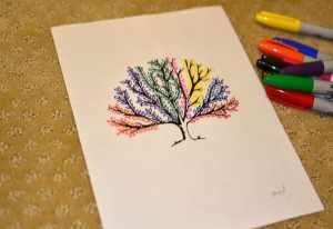 sharpie diy tree fun diys leaf watercolor leaves multi