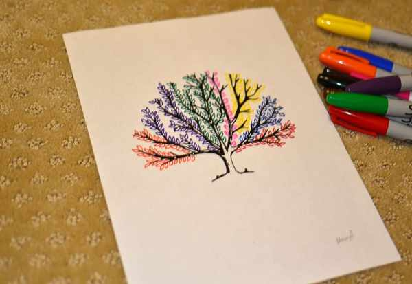 Easy Colorful Sharpie Drawing Ideas