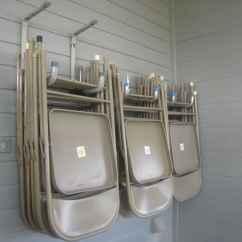 Folding Chair Hack Beige Banquet Covers Genius Garage Organization Hacks
