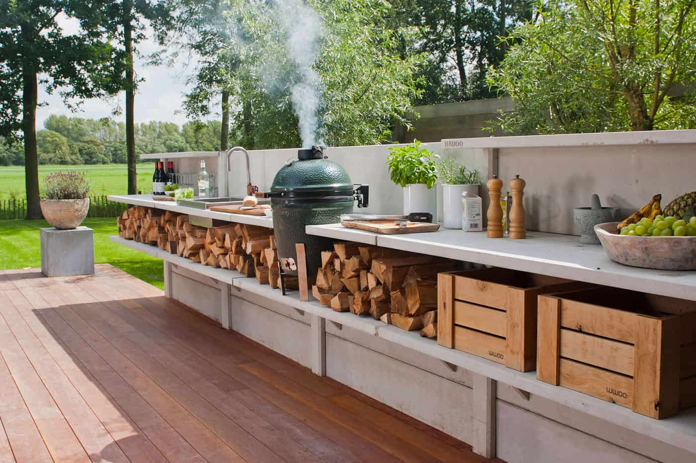 backyard kitchen designs bench with back 15 outdoor that you can help diy modular
