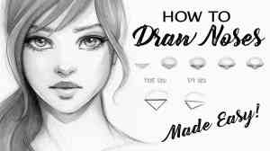 drawing nose draw female face noses step reference easy drawings tutorial sketches gabrielle brickey instagram beginners simple realistic human tips
